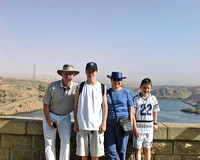 Egypt with the Boys in 2000
