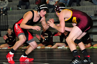 South Sioux Cardinals Wrestling vs Maple Valley-Anthon Otto Rams