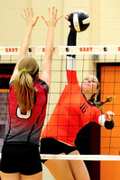 South Sioux Girl's Volleyball at East